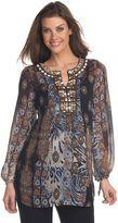 Isabel printed chiffon tunic