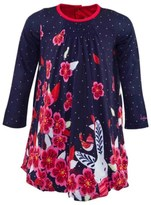 Catimini Navy Rabbit And Floral Dress