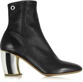 Proenza Schouler Black Leather w/Mirror High Heel Boot