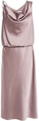 Halston Draped Satin-crepe Dress