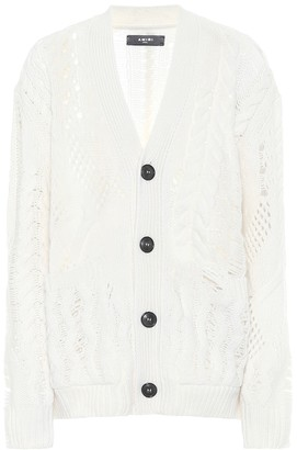Amiri Wool and cashmere cardigan