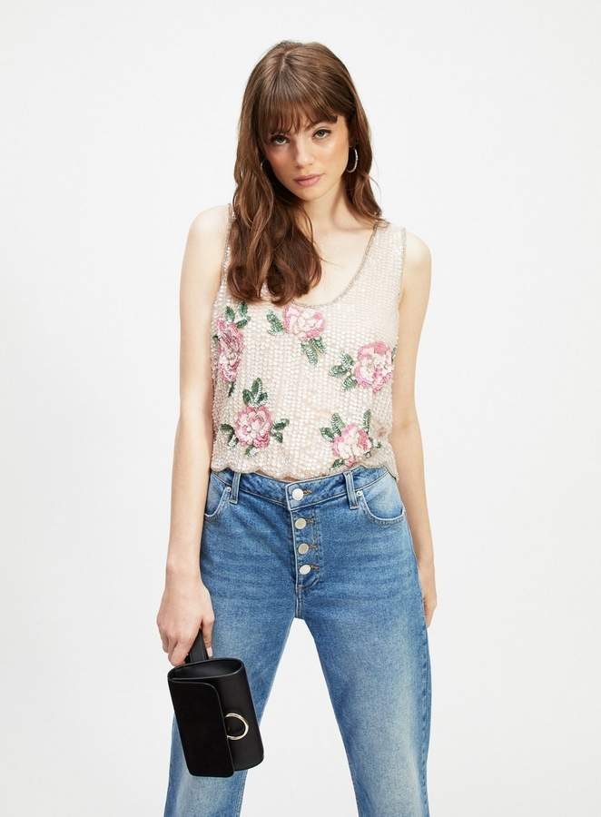 dd9cf3adb42 Miss Selfridge Floral Top - ShopStyle UK