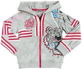 Kenzo Embroidered Cotton Hooded Sweatshirt