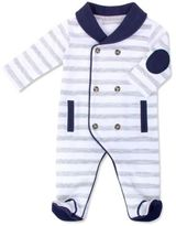 Wendy Bellissimo Wendy BellissimoTM Double Breasted Footie Pajama in Grey Stripe
