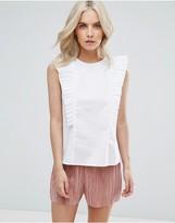 Fashion Union Petite Ruffle Detail Blouse