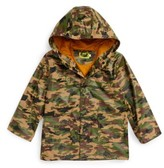 Western Chief Toddler Boy's Camo Print Hooded Raincoat