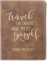 Stamp Out Passport Holders rustic - Rustic 'Travel Far Enough' Personalized Passport Cover
