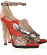 Reed Krakoff Python, lizard and leather platform sandals