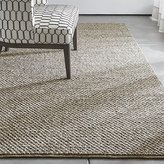 Crate & Barrel Yvonne Grey Wool-Blend Rug