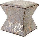 Massoud Furniture Althea Stool, Gold Spots