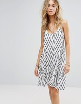 Billabong Relaxed Cami Sun Dress With Peplum Hem