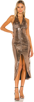 Camila Coelho Melany Halter Midi Dress