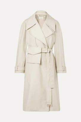 Low Classic Cotton-blend Trench Coat - Ivory