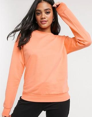 ASOS DESIGN ultimate organic cotton sweatshirt in coral