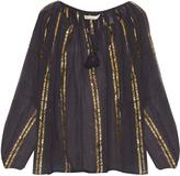 Mes Demoiselles Byzantine striped cotton-gauze top