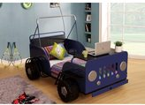 Acme Casper Blue and Black Car Theme Twin Bed
