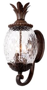 Beachcrest Home Kyra 3-Light Outdoor Wall Lantern Fixture Finish: Black Coral