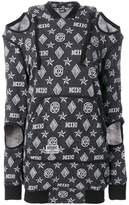 Kokon To Zai logo embroidered sweater dress