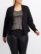 Charlotte Russe Plus Size Collarless Cropped Blazer