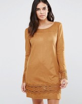 Vila Sweater Dress With Frill Detail