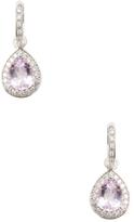 Rina Limor Fine Jewelry Kunzite & Diamond Teardrop Earrings