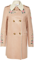 RED Valentino Double Breasted Shearling Coat