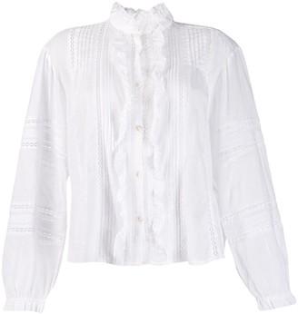 Etoile Isabel Marant ruffled bib Valda shirt