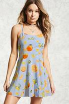 Forever 21 Strappy Fruit Skater Dress