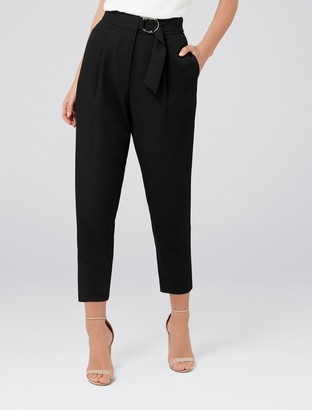 Forever New Alayna Petite Tapered Pants - Black - 4