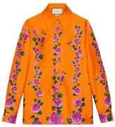Gucci Rose Garden print silk shirt