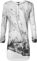 Ann Demeulemeester printed button neck sweater