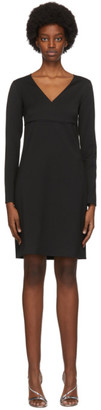 Victoria Victoria Beckham Black V-Neck Dress
