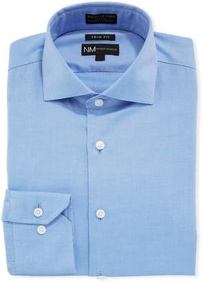 Neiman Marcus Men's Trim-Fit Non-Iron Oxford Sport Shirt