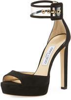 Jimmy Choo Mayner Suede High Dressy Platform Sandal