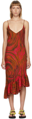 Collina Strada Red Swirl Rose Michi Dress