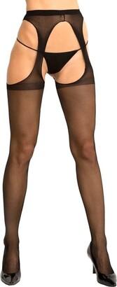 Rene Rofe Women's Suspender Thigh Highs