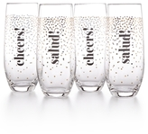 Home Design Studio Home Design Studio 4-Pc. Stemless Flute Set