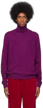 Gucci Purple Wool Cashmere Turtleneck