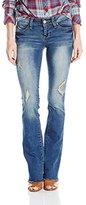 YMI Jeanswear Junior's Wannabettabutt Fray Hem Bootcut