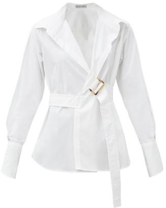Palmer Harding Palmer//harding - Calli Belted Cotton-poplin Shirt - White