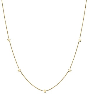 Zoë Chicco 14K Yellow Gold Star Station Necklace, 16