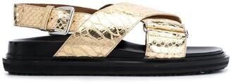 Marni Fussbet metallic-effect sandals