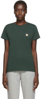 MAISON KITSUNÉ Green Fox Head T-Shirt
