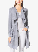 Michael Kors Draped Jersey Cardigan Plus Size