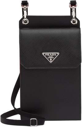 Prada logo-embellished cellphone case