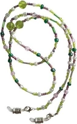 Eyewearstraps NEW Stunning Lime Dusky Pink & Pearl Glass Beaded Eye Glasses Sunglasses Chain Strap Holder