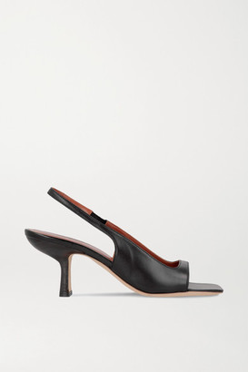 BY FAR Lopez Leather Slingback Sandals - Black
