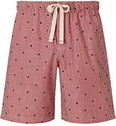 John Lewis Boat Stripe Lounge Shorts, Red