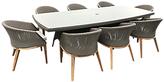 Westminster Valencia/Grace Rectangular 8 Seater Garden Dining Set, FSC-Certified (Teak)