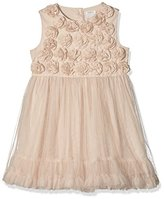 Mamas and Papas Baby-Girls Mesh Rose Plain Short Sleeve Dress
